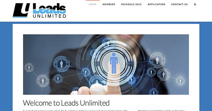 Leads Unlimited website